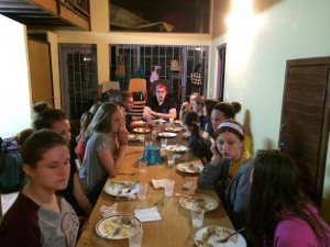 Interns Eating in Colombia